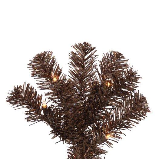 Vickerman Co. 5.5' Mocha Artificial Pencil Christmas Tree with 250 Clear Mini Lights