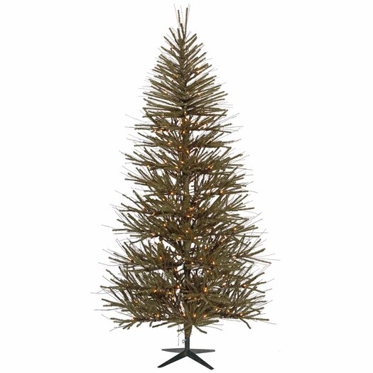 Vickerman Co. Vienna 10' Green Twig Artificial Christmas Tree with 550 Clear Lights with Stand
