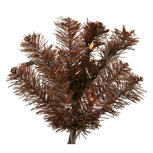 Vickerman Co. 7' Mocha Artificial Christmas Tree with 500 Clear Mini Lights with Stand