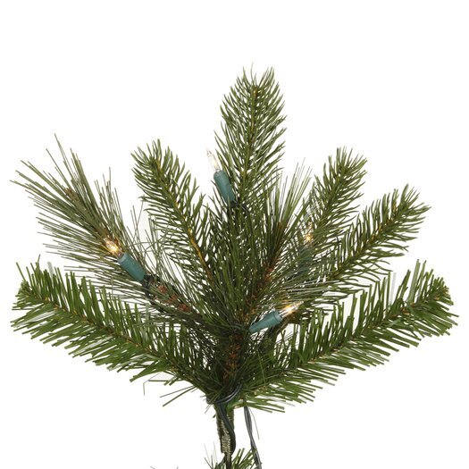 Vickerman Co. Shoreline Mixed Pine 7.5' Green Artificial Christmas Tree with 550 Clear Dura-Lit Mini Lights with Stand