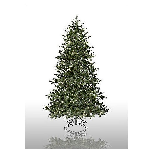 Vickerman Co. Redwood 7.5' Green Artificial Christmas Tree with 600 Pre-Lit Multicolored Lights with Stand