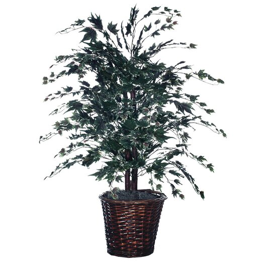 Vickerman Co. Blue Wreath and Garland Floor Plant in Pot