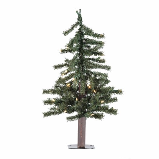 Vickerman Co. Natural Alpine Christmas Tree with Clear Lights