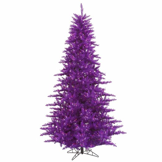 Vickerman Co. 6.5' Purple Fir Artificial Christmas Tree with 600 Mini Clear Lights