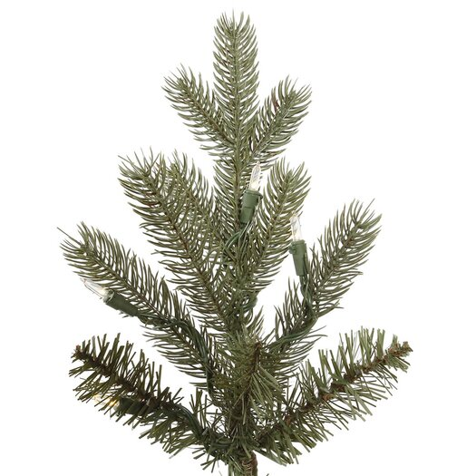 Vickerman Co. Baldwin 6.5' Green Spruce Artificial Christmas Tree with 450 LED Warm WhiteLights with Stand