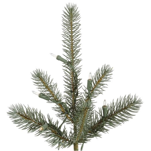 Vickerman Co. Colorado 7.5' Blue Spruce Artificial Christmas Tree with 650 Dura-Lit Clear Lights with Stand