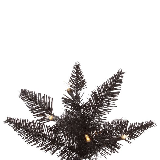 Vickerman Co. 7.5' Black Slim Fir Artificial Christmas Tree with 500 Mini Clear Lights