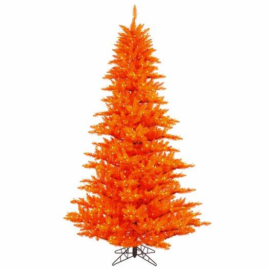 Vickerman Co. 7.5'  Orange Fir Artificial Christmas Tree with 750 Mini Lights