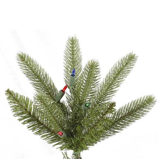 Vickerman Co. Bradford 7.5' Green Pine Artificial Christmas Tree with 550 Dura-Lit Multi Lights with Stand