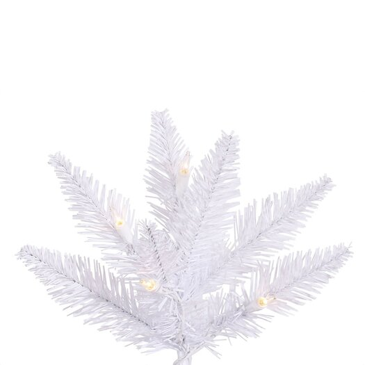 Vickerman Co. 9' White Slim Fir Artificial Christmas Tree with 700 Mini Clear Lights