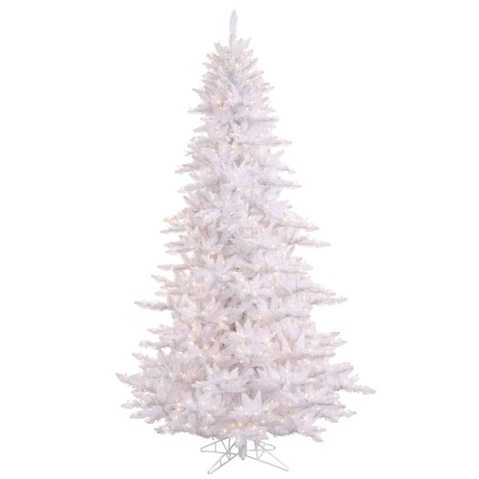 Vickerman Co. 6.5' White Fir Artificial Christmas Tree with 600 Mini Clear Lights