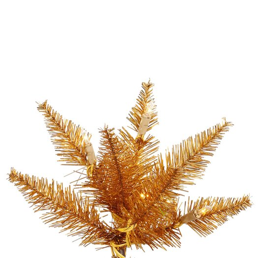 Vickerman Co. 7.5' Copper Slim Fir Artificial Christmas Tree with 500 Mini Clear Lights