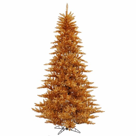 Vickerman Co. 6.5' Copper Fir Artificial Christmas Tree with 600 Mini Clear Lights
