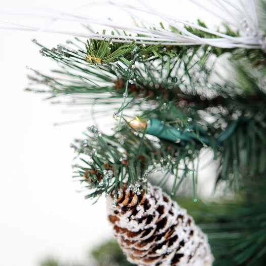 """Vickerman Co. Glitter 2' 6"""" Green Mixed Pine Artificial Christmas Tree with 35 Clear Lights"""