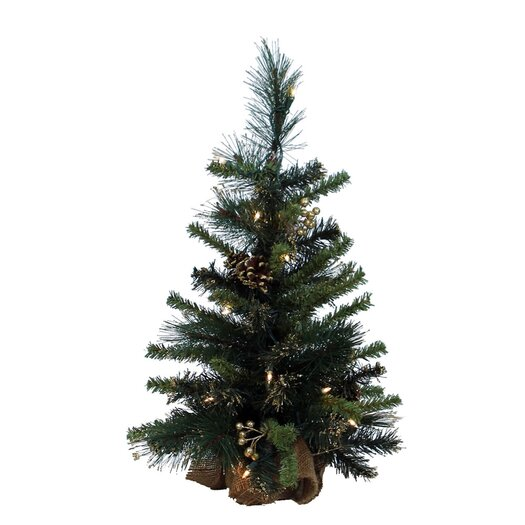 Vickerman Co. Glitter Mixed Pine Table Top Tree with 20 Lights