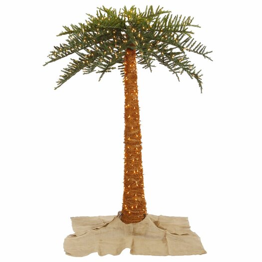 Vickerman Co. 6' Green Outdoor Palm Artificial Christmas Tree with 500 Clear Lights