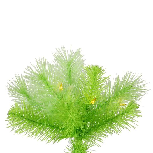 Vickerman Co. Cashmere 7' Lime Artificial Christmas Tree with 400 Dura-Lit Lights with Stand