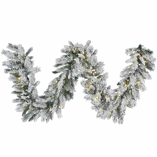 Vickerman Co. Snow Ridge Sprays Garland with 100 LED Lights