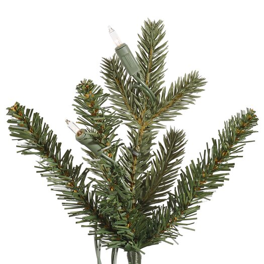 Vickerman Co. 5' Green Slim Medium Noble Artificial Christmas Tree with 200 Clear Lights with Pot