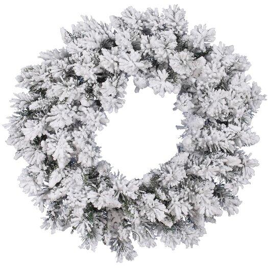Vickerman Co. Flocked Snow Ridge Wreath with 160 Tips
