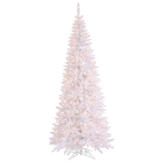 Vickerman Co. 10' White Slim Fir Artificial Christmas Tree with 900 Mini Lights