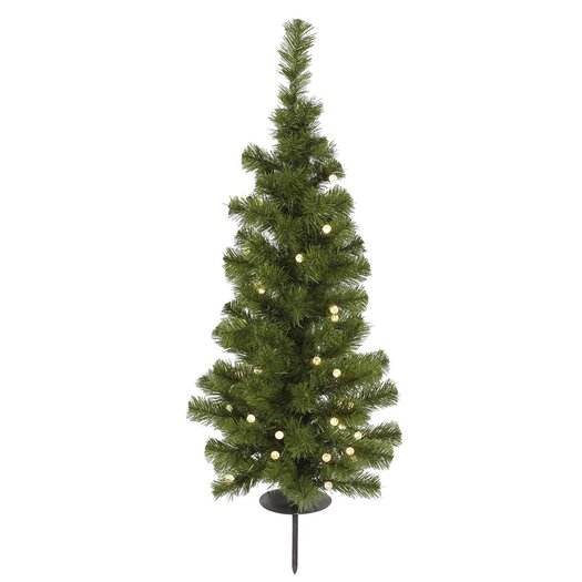 Vickerman Co. Potted Solar 3' Green Artificial Christmas Tree with 30 LED Warm White Lights with Stand