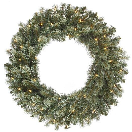 Vickerman Co. Colorado Blue Spruce Wreath with 200 Dura-Lit Lights