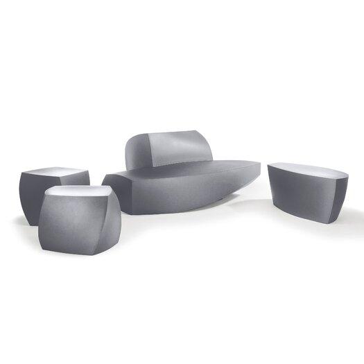 Heller Frank Gehry Three Sided Cube Ottoman