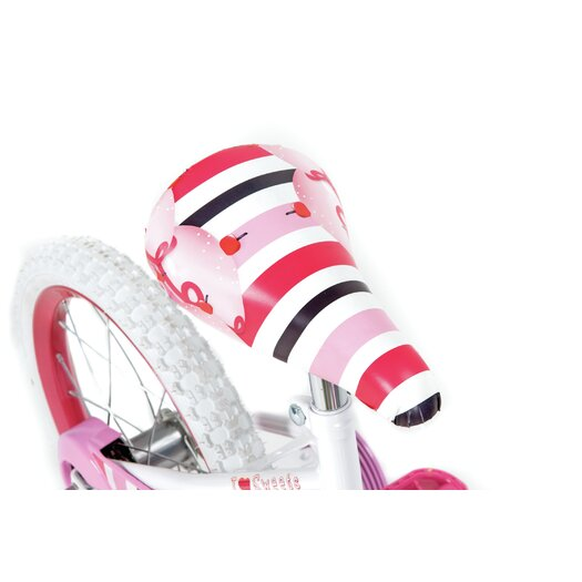 "Huffy Girl's 16"" So Sweet Cruiser Bike with Training Wheels"