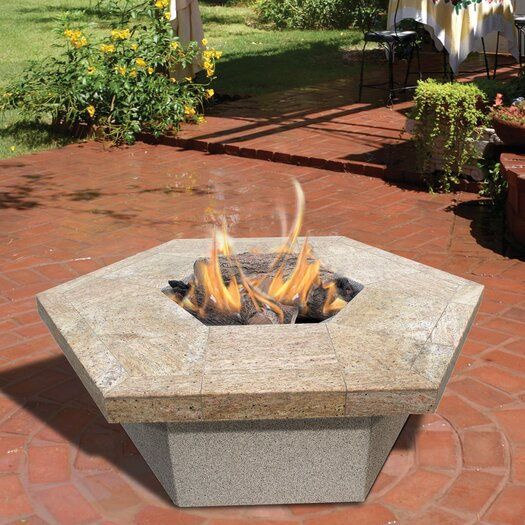 CalFlame Hexagon Gas Fire Pit