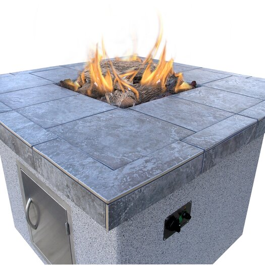 CalFlame Dining Height Gas Fire Pit