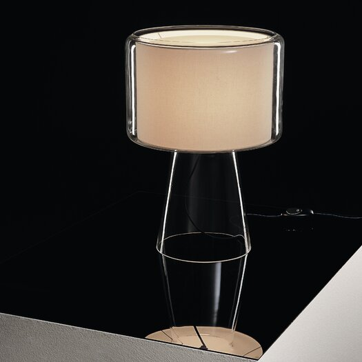 "Marset Mercer Mini 9.8"" H Table Lamp with Drum Shade"