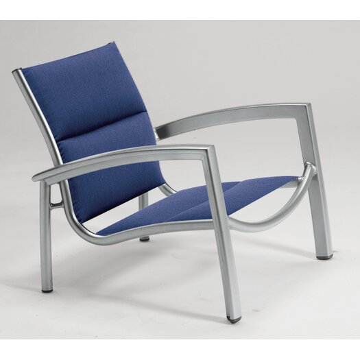 Tropitone South Beach Padded Sling Stacking Arm Chair