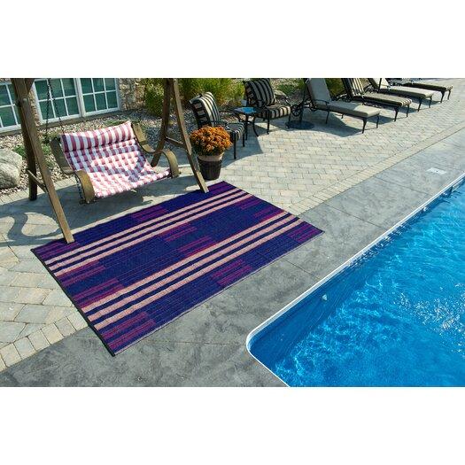 B. B. Begonia Designer Blue/Red Brick Lane Indoor/Outdoor Area Rug