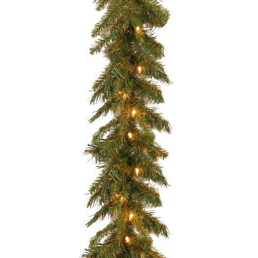 "National Tree Co. Tiffany Fir 9' x 10"" Garland"