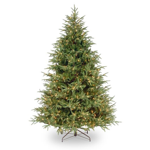 National Tree Co. Frasier 7.5' Green Grande Artificial Christmas Tree with 1000 Pre-Lit Clear Lights with Stand