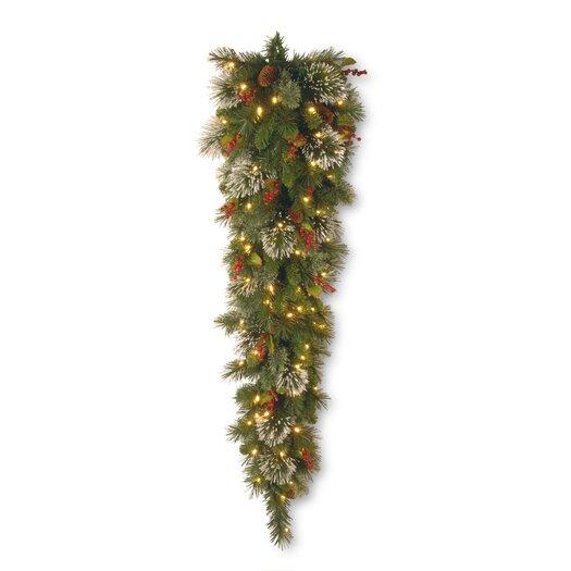 National Tree Co. Wintry Pine Pre-Lit 4' Teardrop