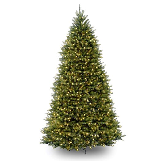National Tree Co. Dunhill Fir 12' Green Artificial Christmas Tree with 1500 Pre-Lit Clear Lights with Stand