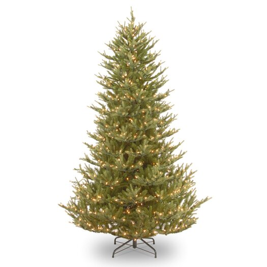 National Tree Co. Balsam Fir 7.5' Green Medium Artificial Christmas Tree with 750 Pre-Lit Clear Lights with Stand