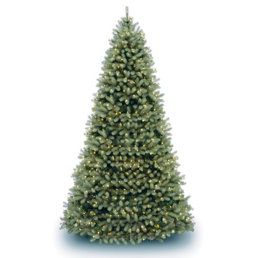 National Tree Co. Douglas Fir Downswept 10' Green Artificial Christmas Tree with Clear Lights with Stand