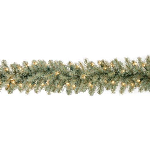 "National Tree Co. Douglas Pre-Lit 9' x 12"" Downswept Garland"