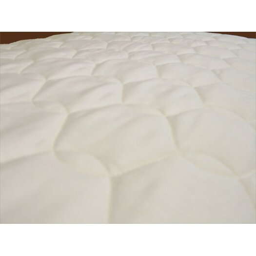 Naturepedic Cotton Quilted Mattress Topper with Straps