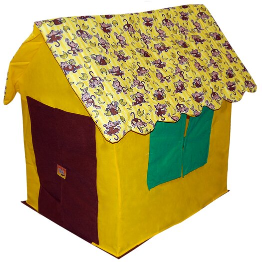 Bazoongi Kids Going Bananas Monkey Cottage Play Tent