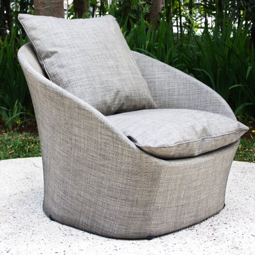 Les Jardins Spinner Low Armchair with Cushion
