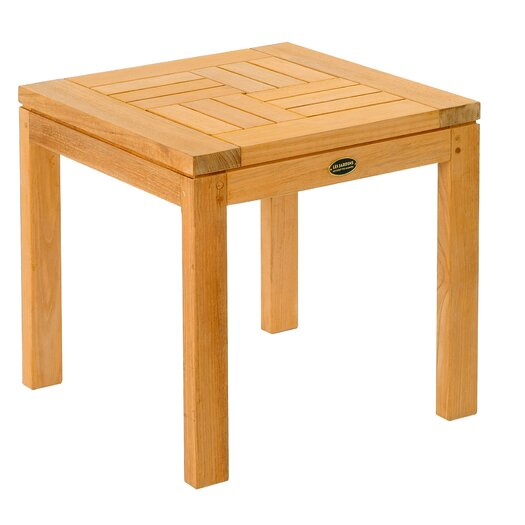 Teak Criss - Cross Side Table