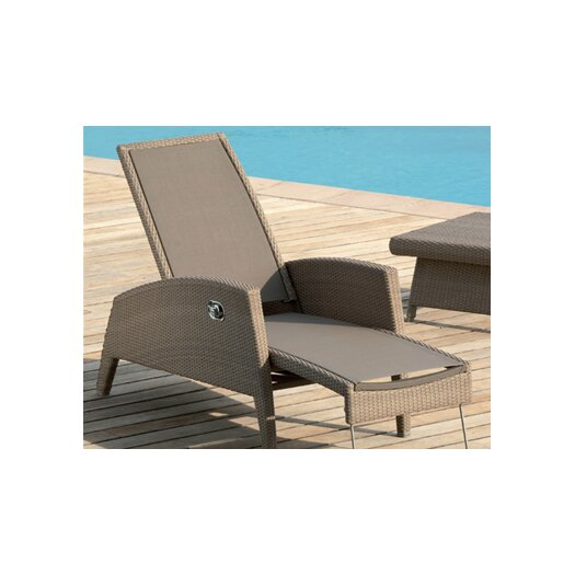 Les Jardins Out of Blue Kahuna Multi-Position Lounge Chair in Brown