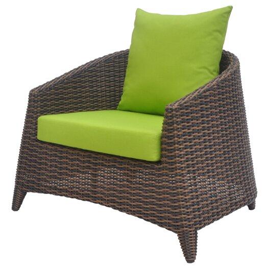 David Francis Furniture Rio Deep Seating Chair with Cushions