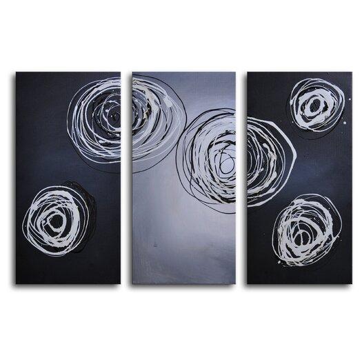 My Art Outlet Cnidaria Phosphorescence 3 Piece Canvas Art Set
