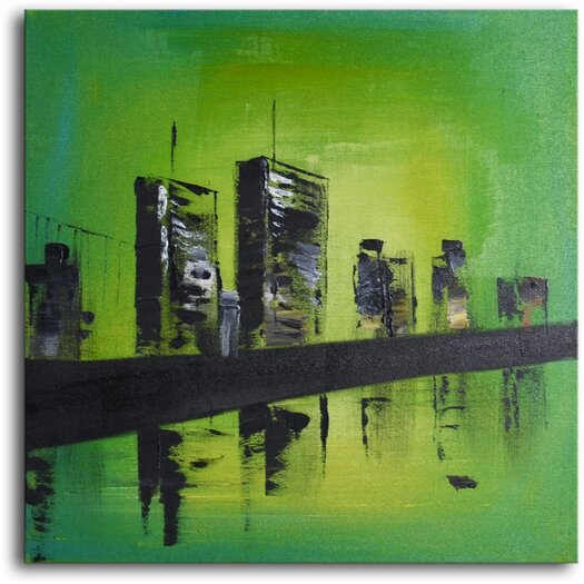 My Art Outlet Twin Towers Original Painting on Canvas