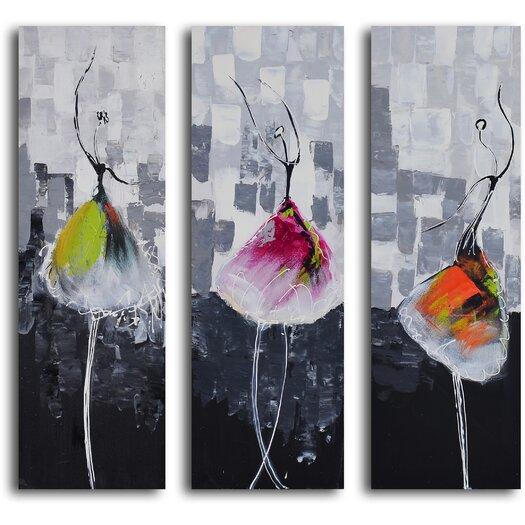 My Art Outlet Tutu Trio 3 Piece Canvas Art Set